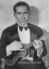 Johnny Marvin, from sheet music cover, 1920s
