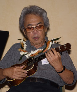 Herb Ohta entertains the crowd at the Ukulele Guild of Hawaii's convention, November, 2006