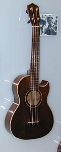 Gibson tenor ukulele modified with a cutaway, used by Lyle Ritz on the Verve recordings