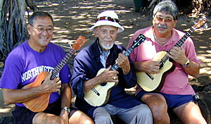 Byron Yasui, Bill Tapia, and Benny Chong, Honolulu, 2003